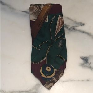 Polo by Ralph Lauren Men Silk Tie VTG